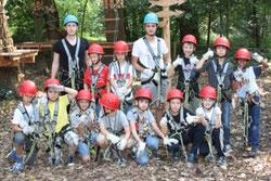 TuS E1-Jugend Mannschaftsfahrt im Kletterpark in Hamm. - Fotos: p.d.