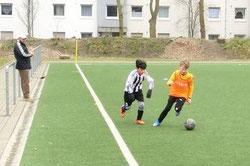 TuS D1-Jugend im Spiel beim ESC Preußen.