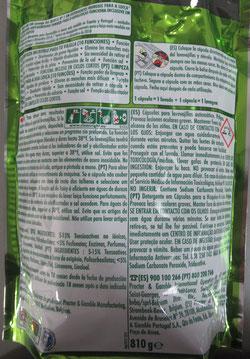 Envase de cápsulas para lavavajillas. AprendEmergencias