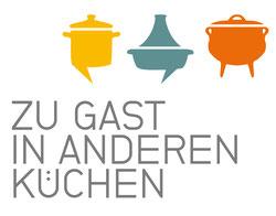 """Logo """"zu Gast in anderen Küchen"""""""