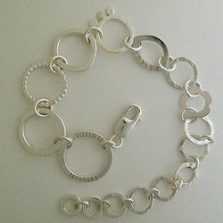 Circles and Discs Sterling Silver Contemporary Jewellery