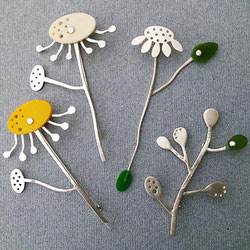 Flowerheads  Sterling Silver Contemporary Jewellery