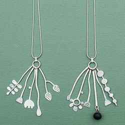 Seed Heads and Grasses Sterling Silver Contemporary Jewellery