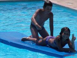 piscine gratuite au chevalet