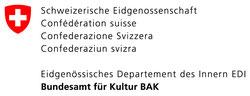 Logo Eidgenössisches Departement des Innern EDI - Bundesamt für Kultur BAK