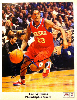 Autograph from Lou Williams for my Daddy