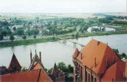 城の上から見た風景