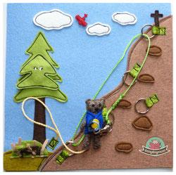 Spielbuch Stoffbuch Teddy geht auf Weltreise Filz