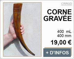 corne gravée runes 400mm
