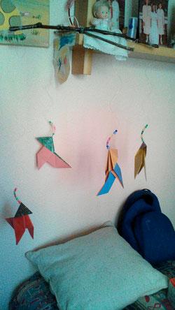 Movil artesanal de Pajaritas