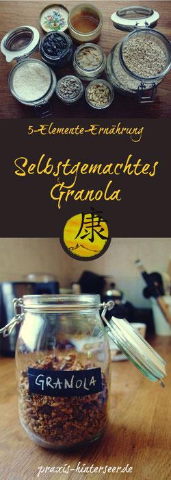 Granola TCM Rezept nach den 5 Elementen zuckerfrei