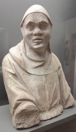 Buste d'un bourreau de la flagellation, , 13ème siècle - Musée du Louvre. Temple de Paris