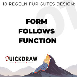 Bild zeigt die Typographie von Form follows Function