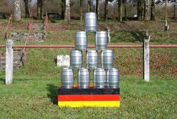Torwand mieten Frankfurt Dosenschießen Dosenwerfen neu Eventmodule Verleih Tischkicker