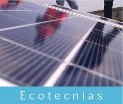 Ecotecnias: paneles solares, poste solar para alumbrado, alumbrado autosustentable, etc.