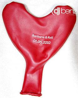 Lustige Einladung als Ballon