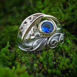 Oak Leaf Diamond Wedding & Engagement Ring Set