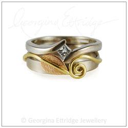 Unusual shaped wedding ring