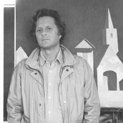 Künstler Sinasi Bozatli in der galerie artziwna