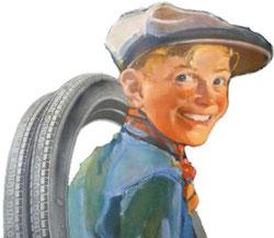 Kategorie Technik & Benzin -> Abbildung Werbemotiv Dunlop Reifen