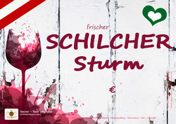 Schilcher Sturm - Plakat - Steirer Rudi Weghofer - schilchersturm.com - Sturmzeit