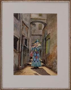 Nr.3176 Fasnacht Basel, einsamer Piccolo Spieler