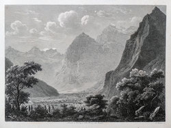 Nr. 3362 Blick gegen Glarus bei Weesen