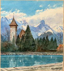 Nr. 3615 Scherzligen Kirche bei Thun