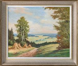 Nr. 3260 Landschaft mit Strohgarben