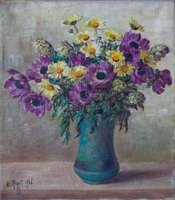 Bouquet in grüner Vase