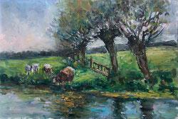 Nr.612 Kühe am Wasser