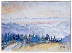 Nr.1123 Blick zu den Alpen