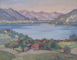 Nr. 1758/RB651 Ob Därligen. Blick Richtung Interlaken und Rothornkette