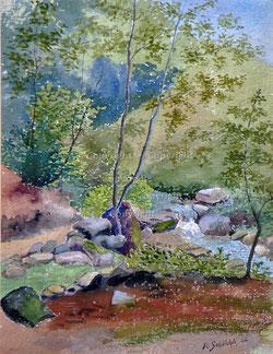 Nr.1958;  Bach Landschaft von 1922