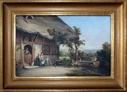 Nr. 1887 Familienszene vor dem Haus