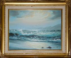 Nr. 1851 Strandwellen mit Möwen