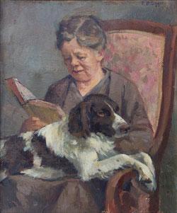 Nr. 901 Lesende mit Hund