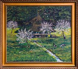Nr.2657  Bauernhaus im Frühling