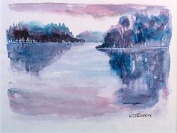 Nr. 2866 Morgenstimmung am See