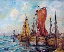 Nr.864 Segelboote im Hafen