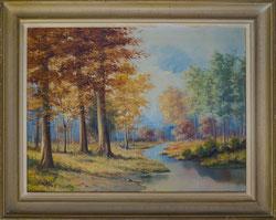 Nr.2212 Herbstlandschaft mit Bach