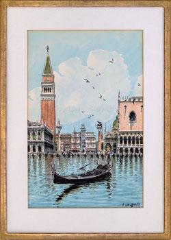 Nr. 3263 Gondoliere, Piazza San Marco, Venezia