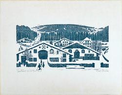 Jurahäuser im Winter