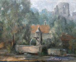 Nr. 1214 Brunnen bei Ruine Landskron im Elsass
