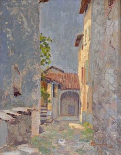 Nr.1923; Winkel in Rovio, Tessin, 1947.