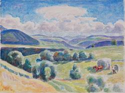 Nr. 1527 Heuet mit Pferdewagen 1939