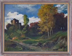 Nr. 3413 Burgruine im Herbst