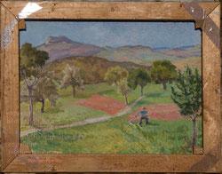 Rückseitiges Bild von Nr.0844. Hegau-Landschaft bei Thayngen