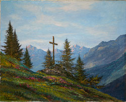 Nr.1143 Gedenk Kreuz am Bergweg (Region Adelboden)