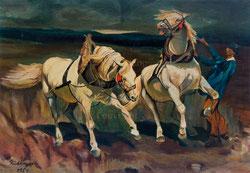 Nr.539 Scheuende Pferde/ nach Koller